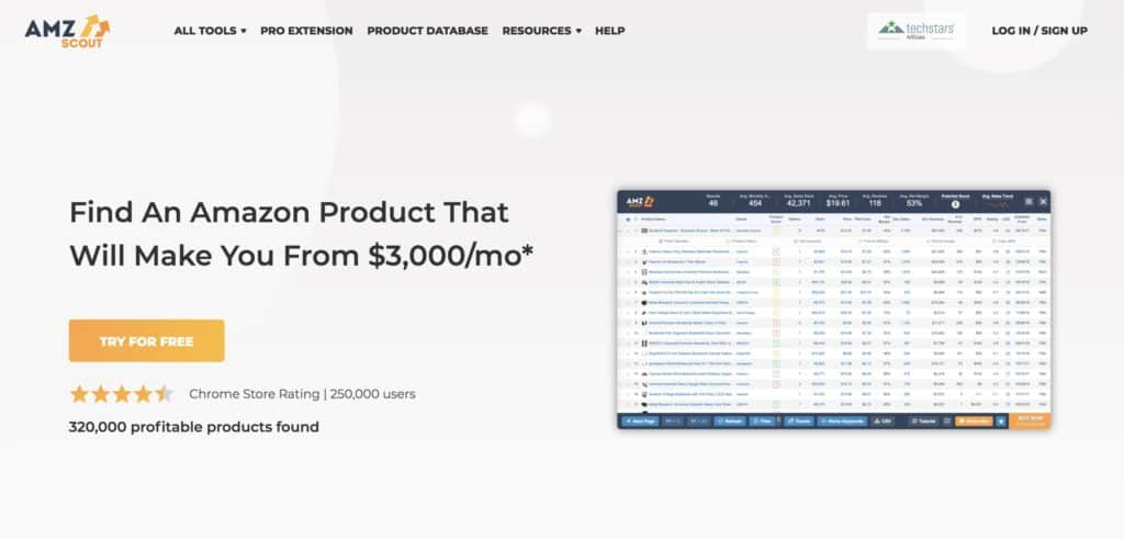 AMZScout Product Finder Research Tool