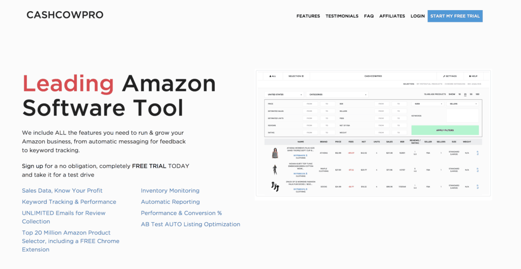 Find Amazon Products with CashCowPro Tool