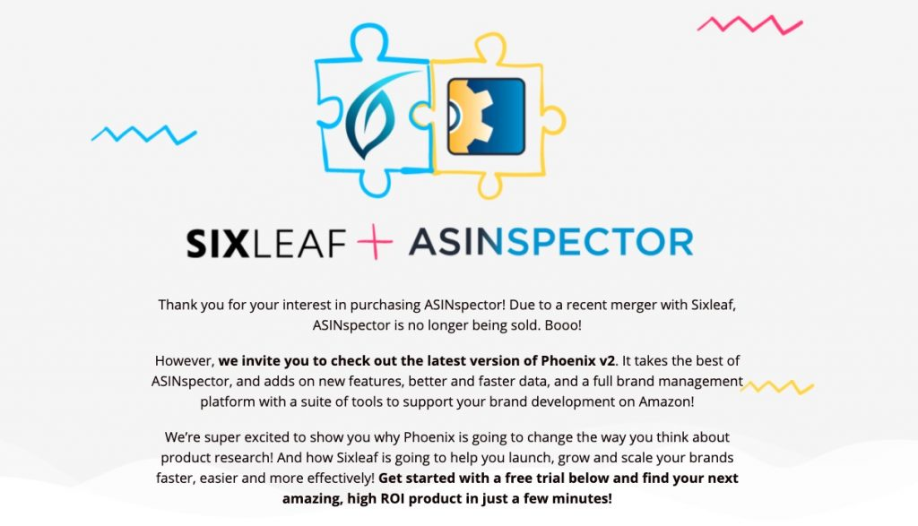 ASINspector pro merger with Six Leaf