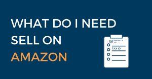 do i need a tax id to sell on amazon